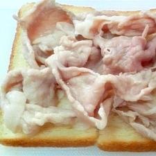 豚ガーリックトースト