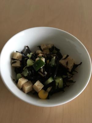 高野豆腐とひじきの和風サラダ