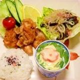 4:3:3ダイエットレシピ☆ヘルシー空揚げ定食