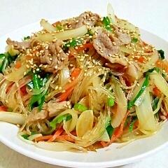 ご飯がすすむ☆豚肉と緑豆春雨でチャプチェ♪