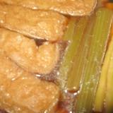 ふきと竹の子とあげの煮物