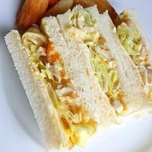 醤油味が新鮮!☆味玉サンドウィッチ