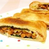 油揚げの海苔納豆サンド