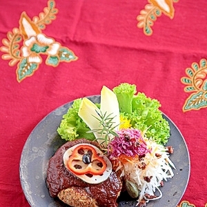 高野豆腐のハンバーグ