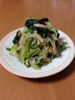 小松菜とツナのおひたし♪