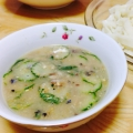 素麺つゆ   薬味たっぷり、きゅうりの味噌ダレ