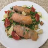 スモークサーモンと野菜の前菜