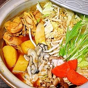 牡蠣のピリ辛カレー鍋♪