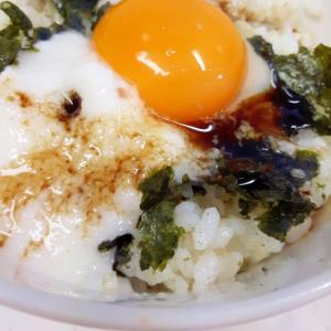 簡単!卵かけご飯with長芋のとろろ+焼き海苔♪