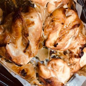 オーブンで★大量鶏胸肉の蜂蜜醤油焼き