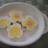 ☆お花の形のゆで卵☆ひな祭りの飾りに!