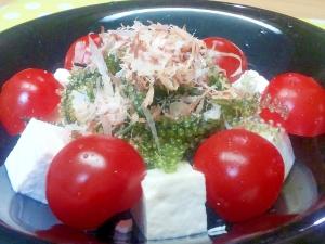 海ぶどう&豆腐のサラダ