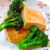 水きり豆腐とブロッコリーの焼き肉のタレ炒め