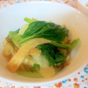 青梗菜と油揚げの煮浸し