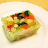 カラフル野菜のテリーヌ(ゼリー寄せ)