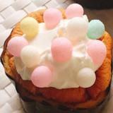 カラフルおいりの米粉カップシフォンケーキ