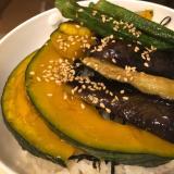 ★簡単★夏野菜の煮浸し丼