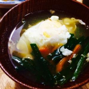 【ガサツ料理】ニラ玉風味噌汁