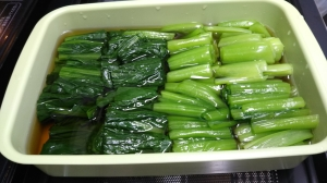 孫も大好き!!小松菜のお浸し。
