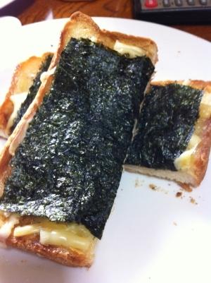 のりチーズ和風トースト