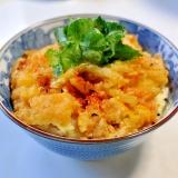 残った天ぷらで作る卵とじ天丼