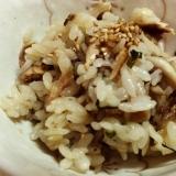 さんまと舞茸のシソ混ぜご飯♪
