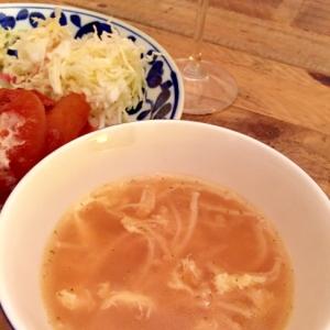 エノキのコンソメスープ