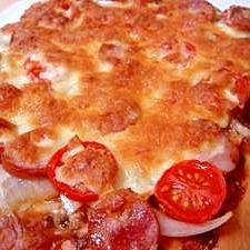 簡単♪発酵手間なしのふかふかパン生地のピザ