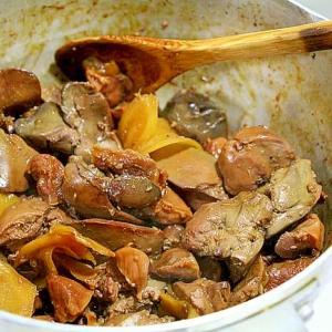 鶏肝のバルサミコ酢煮