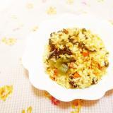 高菜炒めと人参の卵炒飯