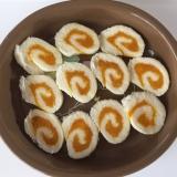 離乳食後期!食パンのかぼちゃロール