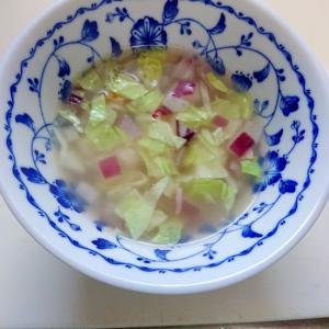 レッドオニオンとキャベツのスープ