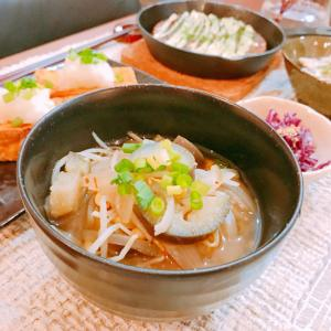 茄子ともやしのピリ辛スープ☆