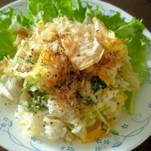 水菜と卵のゆかり風味チャーハン♪