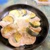 スキレットで☆豚肉とズッキーニの重ね焼き