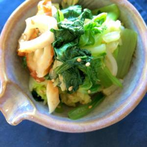 小松菜と白菜と竹輪のお浸し