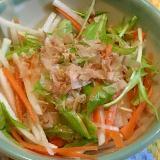 生野菜で簡単*大根・水菜・人参の和風ドレサラダ
