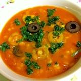 ☆押し麦入り♪かぼちゃとレンズ豆のスープ☆