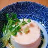 レンジで簡単☆もっちり長芋豆腐