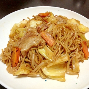 関西風☆野菜たっぷりピリ辛焼きそば