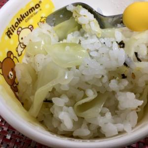 【幼児食】キャベツと海苔の混ぜご飯★