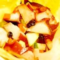 ブルーベリー入り、タコのクロアチア風サラダ