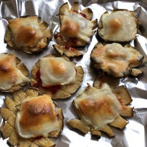 【低糖質】子供も食べる椎茸のピザ風焼き。
