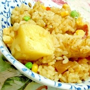 リメイク❤カレーで炊き込みカレーご飯❤