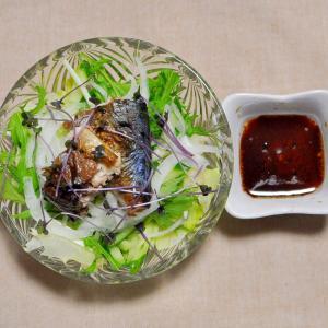 焼き鯖のサラダ