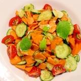 【簡単ヘルシー】スライス野菜の彩りサラダ