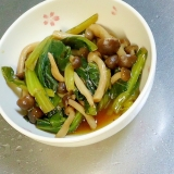 和食の一品、小松菜としめじの煮物