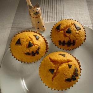 ふんわりかぼちゃのカップケーキ
