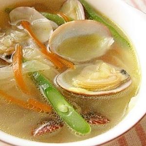 夏バテ予防!あさり&野菜のスープ