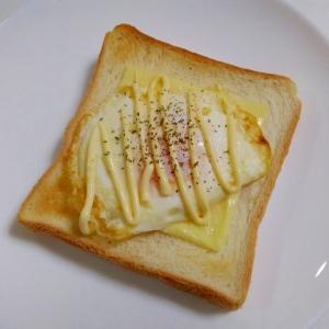 朝食に☆卵とスライスチーズのマヨトースト